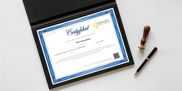 Aktualny Certyfikat wystawiony przez EGW